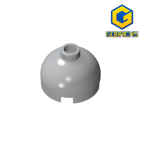 GOBRICKS GDS-742 Round 2 x 2 Dome Top - Hollow Stud with Bottom Axle Holder x Shape + Orientation - Your World of Building Blocks