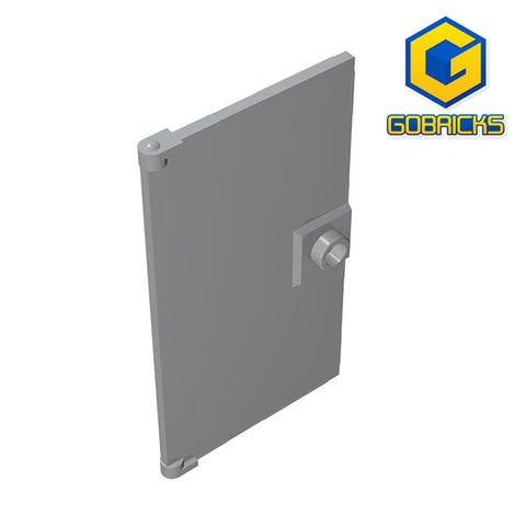 GOBRICKS GDS-763 Door 1 x 4 x 6 with Stud Handle