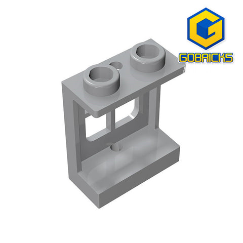 GOBRICKS GDS-784 Window 1 x 2 x 2 Plane, Single Hole Top and Bottom for Glass
