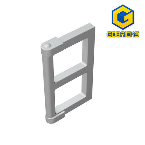 GOBRICKS GDS-792 Window 1 x 2 x 3 Pane with Thick Corner Tabs