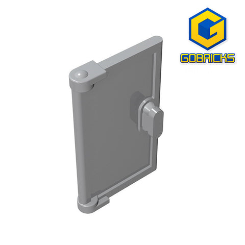 GOBRICKS GDS-793 Door 1 x 2 x 3 with Vertical Handle, Mold for Tabless Frames