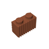 GOBRICKS GDS-797 Brick, Modified 1 x 2 with Grille (Flutes) - Your World of Building Blocks