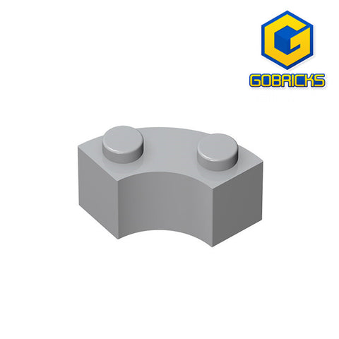 GOBRICKS GDS-799 Brick, Round Corner 2 x 2 Macaroni with Stud Notch and Reinforced Underside - Your World of Building Blocks