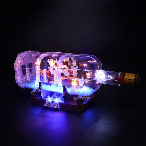 Advanced Version LED Light Kit For The Ship in the Bottle 16051 - Your World of Building Blocks