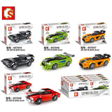 SEMBO 607045-607048 Mini racing cars - Your World of Building Blocks