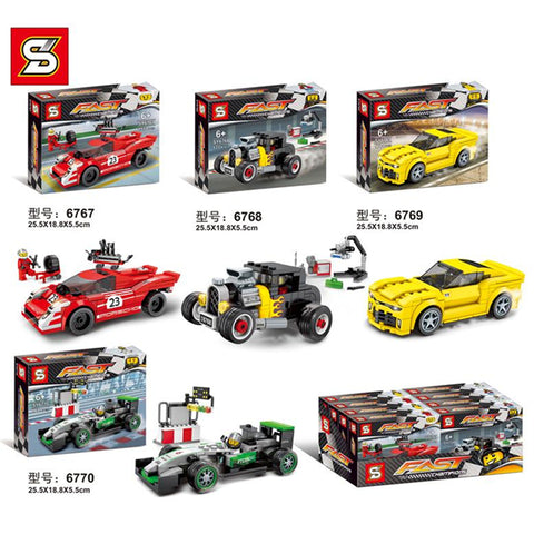 SY 6767-6770 Mini racing cars - Your World of Building Blocks