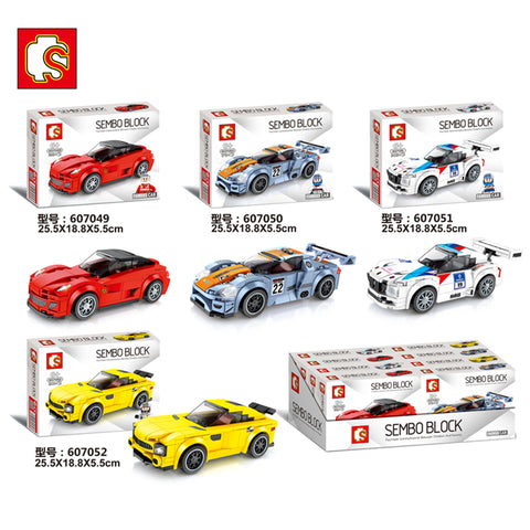 SEMBO 607049-607052 Mini racing cars - Your World of Building Blocks