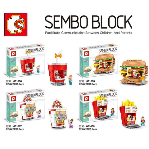 SEMBO 601055-601058 Mini Street Shop - Your World of Building Blocks