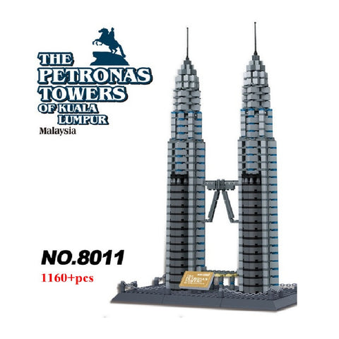 WANGE 5213 The Kuala Lumpur Petronas Towers - Your World of Building Blocks
