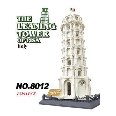WANGE Building Series No.8012 The Pisa Of Leaning Tower Set Building Blocks Bricks Toys Model - Your World of Building Blocks