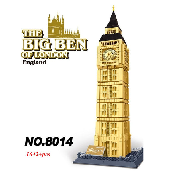 WANGE Building Series No.8014 The Big Ben Of London Set Building Blocks Bricks Toys Model - Your World of Building Blocks