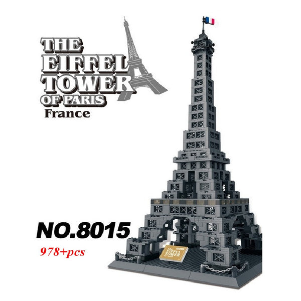WANGE Building Series No.8015 THE EIFFEL TOWER OF PARIS Set Building Blocks Bricks Toys Model - Your World of Building Blocks
