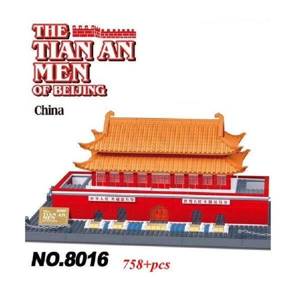 WANGE Building Series No.8016 The Beijing Tiananmen Square Set Building Blocks Bricks Toys Model - Your World of Building Blocks