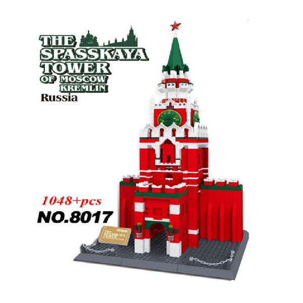 WANGE 5219 The Spasskaya Tower Of Moscow KREMLIN - Your World of Building Blocks