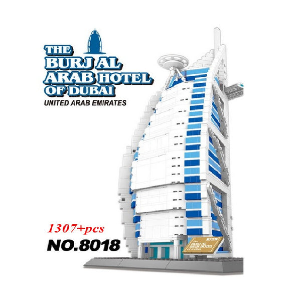 WANGE Building Series No.8018 Dubai Sailing Hotel Set Building Blocks Bricks Toys Model - Your World of Building Blocks