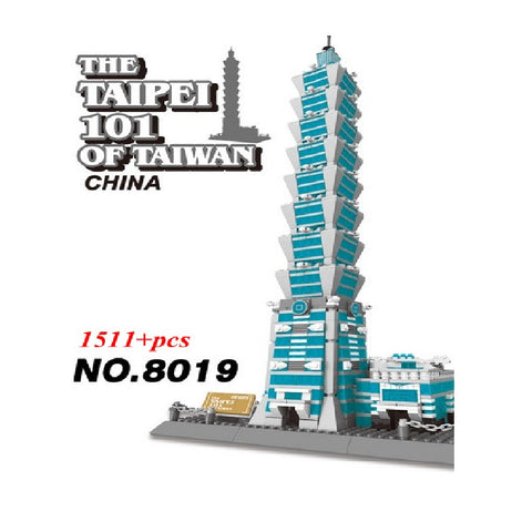 WANGE Building Series No.8019 The Taipei 101 of Taiwan Set Building Blocks Bricks Toys Model - Your World of Building Blocks