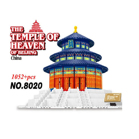 WANGE Building Series No.8020 The Beijing Temple of Heaven Set Building Blocks Bricks Toys Model - Your World of Building Blocks