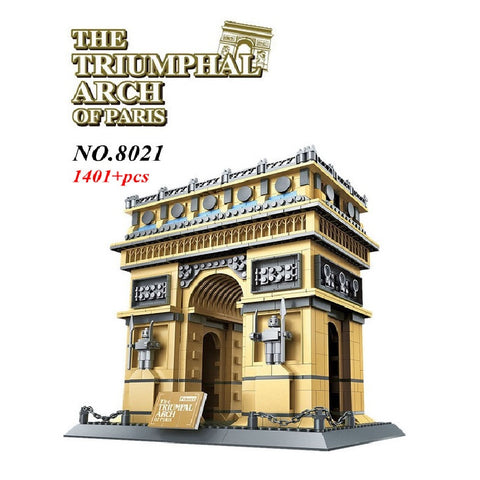 WANGE Building Series No.8021 The Triumphal Arch Of Paris Set Building Blocks Bricks Toys Model - Your World of Building Blocks