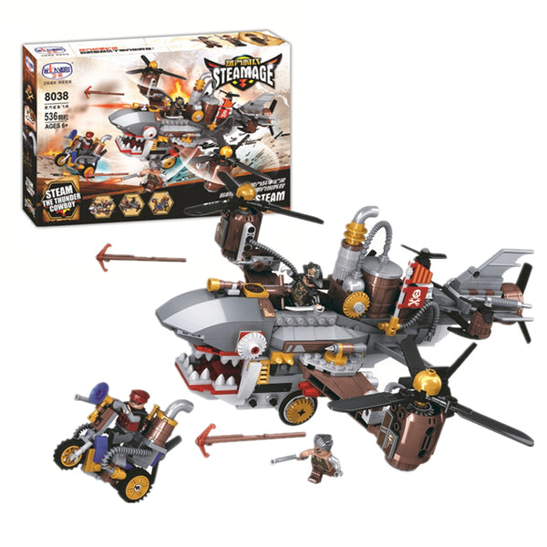 WINNER 8038 the Shark Steam Aircraft - Your World of Building Blocks