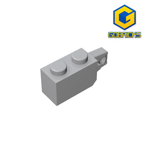 GOBRICKS GDS-826 Hinge Brick 1 x 2 Locking with 1 Finger Vertical End - Your World of Building Blocks