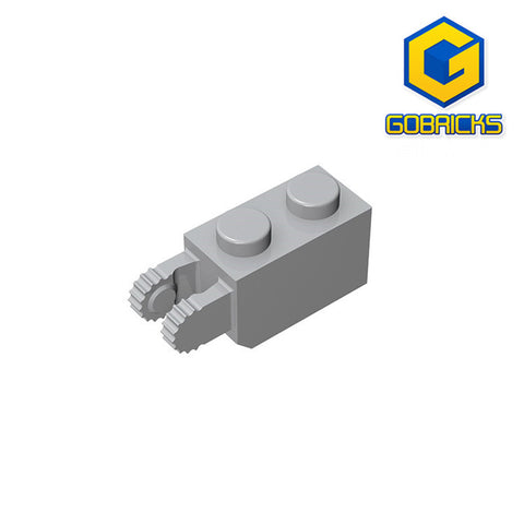 GOBRICKS GDS-827 Hinge Brick 1 x 2 Locking with 2 Fingers Vertical End - Your World of Building Blocks