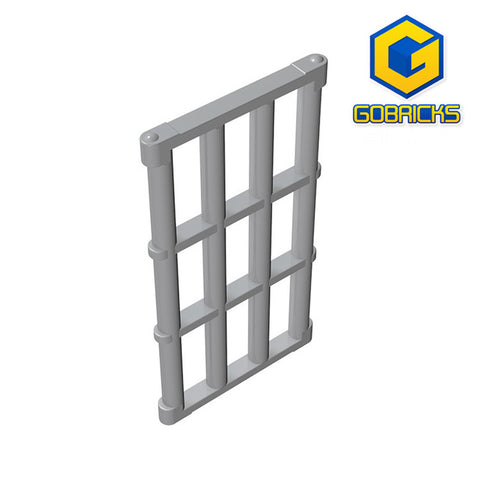 GOBRICKS GDS-875 Bar 1 x 4 x 6 Grille with End Protrusions