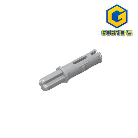 GOBRICKS GDS-929 Axle Pin 3L with Friction Ridges Lengthwise and 1L Axle - Your World of Building Blocks