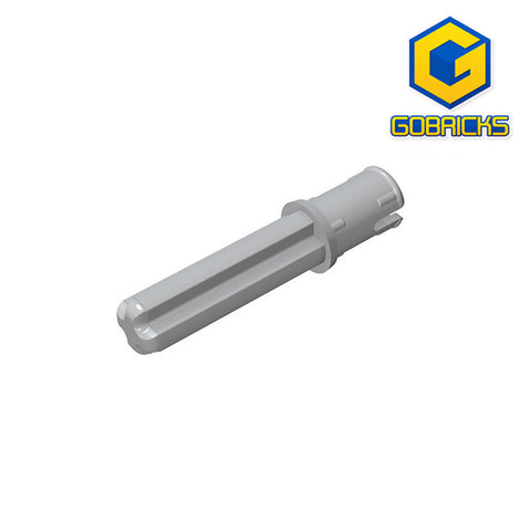 GOBRICKS GDS-930 Axle Pin 3L with Friction Ridges Lengthwise and 2L Axle - Your World of Building Blocks