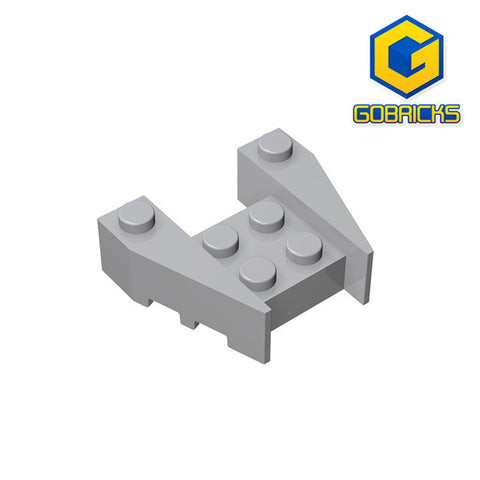 GOBRICKS GDS-947 Wedge 3 x 4 with Stud Notches - Your World of Building Blocks
