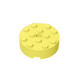 GOBRICKS GDS-952 Brick, Round 4 x 4 with Hole - Your World of Building Blocks