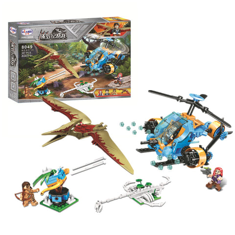 WINNER 8049 Dinosaur Capture Helicopter - Your World of Building Blocks