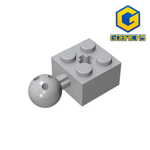 GOBRICKS GDS-976 Technic, Brick Modified 2 x 2 with Ball and Axle Hole - Your World of Building Blocks