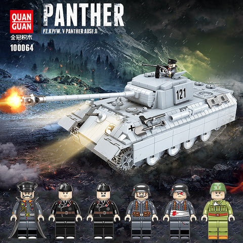 QuanGuan 100064 Panther Tank - Your World of Building Blocks
