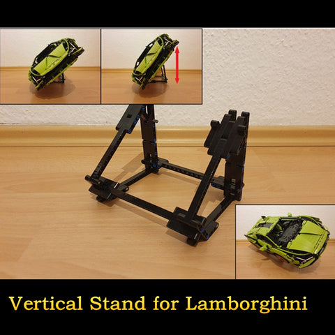 MOC 45721 Adjustable Side Vertical Stand for Lamborghini - Your World of Building Blocks