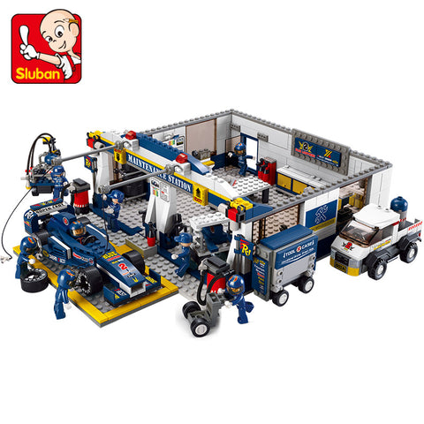 SLUBAN City Series M38-B0356 The Garage Set Building Blocks Bricks Toys Model - Your World of Building Blocks