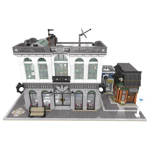 MOC 10811 Brick Bank with Coffee Shop
