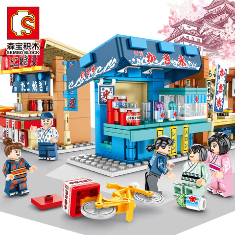 Sembo 601065-601068 Japanese Food Shop - Your World of Building Blocks