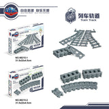 GBL 98215-1&2 Straight & Curved Rail Tracks For Train - Your World of Building Blocks