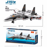 WANGE Military Series JX001 J15 Carrier-Based Single Seat Fighter Set Building Blocks Toy Model - Your World of Building Blocks