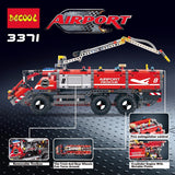 DECOOL 3371 2 In 1 Airport rescue vehicle - Your World of Building Blocks