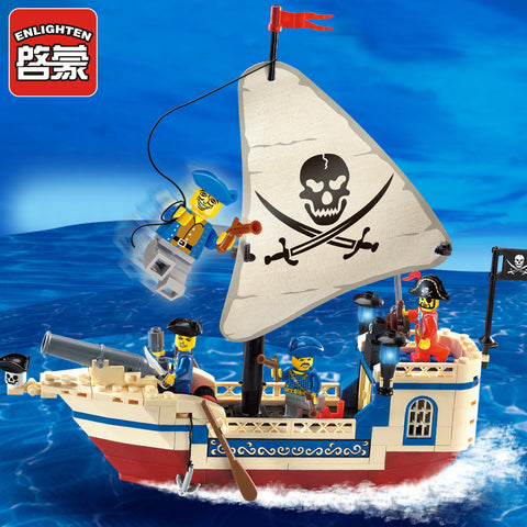 ENLIGHTEN 304 The Pirate Ship - Your World of Building Blocks
