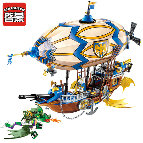 ENLIGHTEN 2316 The Sliver Hawk Balloon Ship - Your World of Building Blocks