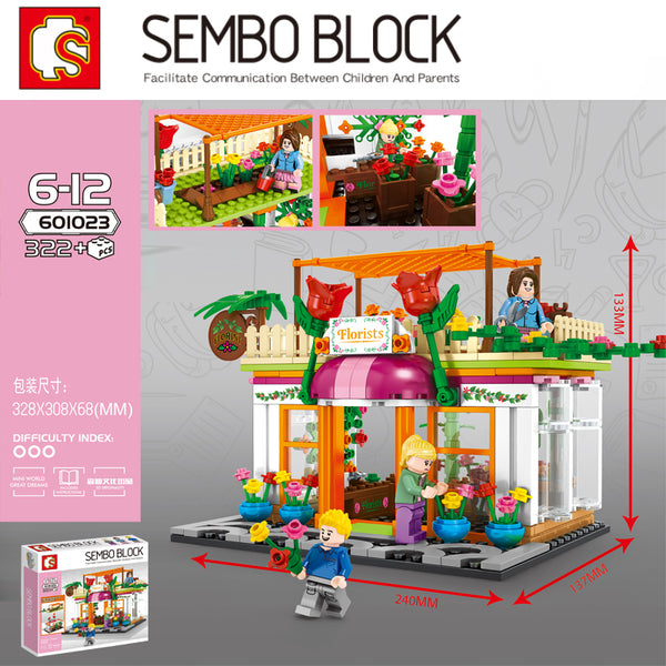 Sembo 601023 Florist Exclusive shop - Your World of Building Blocks