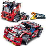 DECOOL 3360 Race Truck Car 2 In 1 Transformable Model - Your World of Building Blocks