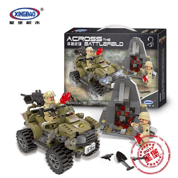 XINGBAO Military Series XB-06010 The Oprah Sand Car Set Building Blocks Bricks Toys Model - Your World of Building Blocks