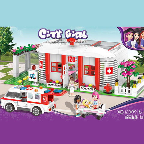 XINGBAO Girls Series XB-12009 The Campus Medical Office Set Building Blocks Bricks Toys Model - Your World of Building Blocks