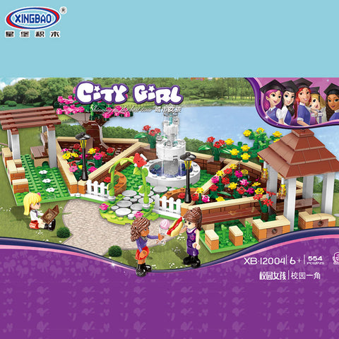 XINGBAO Girls Series XB-12004 The Corner of the School Set Building Blocks Bricks Toys Model - Your World of Building Blocks