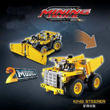 DECOOL 3363 Mining truck bulldozer 2 In 1 Model - Your World of Building Blocks