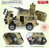 XINGBAO Military Series XB-06012 The Ryan Car Set Building Blocks Bricks Toys Model - Your World of Building Blocks
