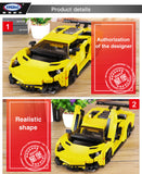 XINGBAO Dream Car Series XB-03008 The Yellow Flash Racing Car Set Building Blocks Bricks Toys Model - Your World of Building Blocks